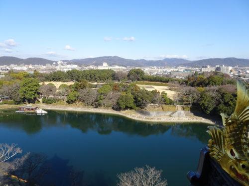 岡山城からの景色